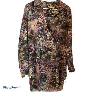 Haute Hippie - floral drawstring shirt dress